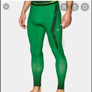 Under Armor compression, base layer-green